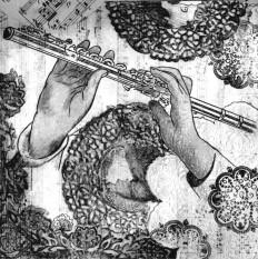 flûte traversière tapisserie