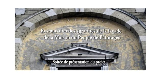 Restauration des sgraffites - soirée du 8 mai 2018 - recto
